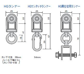 HGランナー寸法図