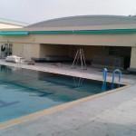 体育館前のプールサイドのオーニング2