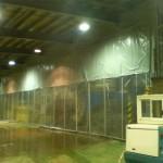 防塵用の大型カーテン