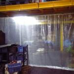 工場内の風除けカーテン1