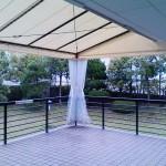 雨除けテントとカーテン2