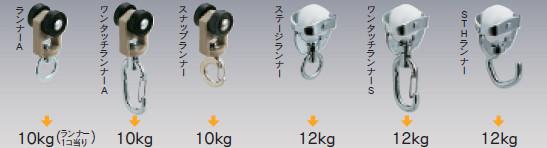 D40カーテンレール カーテン適正重量表