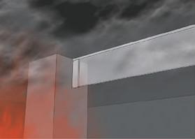 不燃シート製防煙たれ壁|ケムストップ4