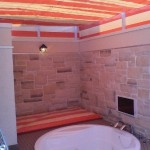 露天風呂の開閉テント2