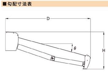 ボックスタイプ 勾配寸法図