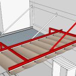 3Dイメージによる開閉テント・閉時