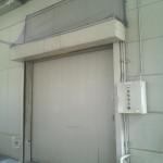 工場内鳩除けネット-出入口上部
