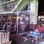 工場内透明間仕切シートのリニューアル工事2