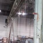 工場内透明間仕切シートのリニューアル工事1