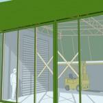 倉庫テント 3Dイメージパース1