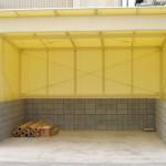 工場内の可動式倉庫テント1
