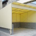 工場内の可動式倉庫テント2