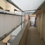 雨除けテント廊下部分