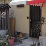 玄関前の雨除けテント2