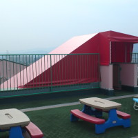 保育園の階段テントのお仕事3