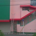 保育園の階段テントのお仕事2