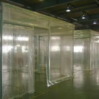 透明テントによるエアコンブース1