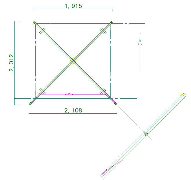 標準取付寸法図|Xフラッガー