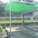 居宅ガレージの開閉テント