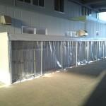 工場内製品パレット置き場テント