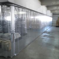 物流倉庫内の省エネカーテン設置工事