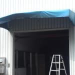 庇テント復旧工事