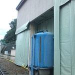 電車のメンテナンス工場の防音カーテン