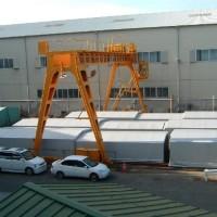 スライドレール式・可動倉庫テント2